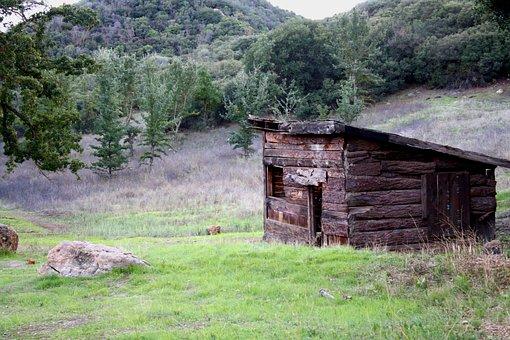 Cabin, Rural, Wooden, Ruins, Log, Rustic, Mountains