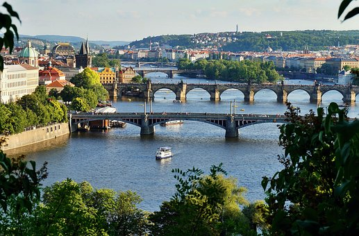 Bridges, Prague, Czechia, Spring, Afternoon, Tourism