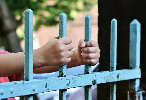 Hands, Fence, Demarcation, Bars, Detention, Keep