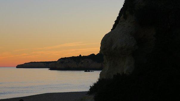 Sunset, Beach, Cliffs, Ocean, Beach Sunset, Sky, Water