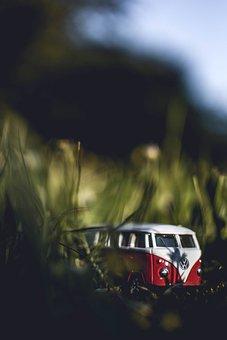 Vw Bus, Red, Vw, Retro, Volkswagen, Bus, Vehicle
