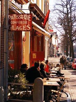 Coffee, Cafe, Logo, Delft, Netherlands, City, Terrace