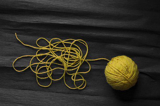 Thread, Yellow, Cotton, Color, Craft, Textile, Hobby