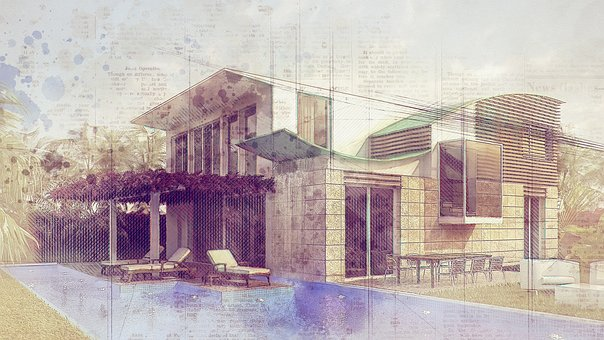 Architecture, Drawing, Crown Render, Cgi, 3d, Graphics