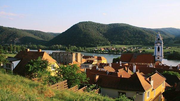 Dürnstein, Wachau, Danube, Church, Pen, River, Austria