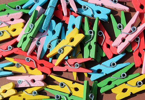 Buckles, Colorful, Paper Clips, Drying, Colors, Clip