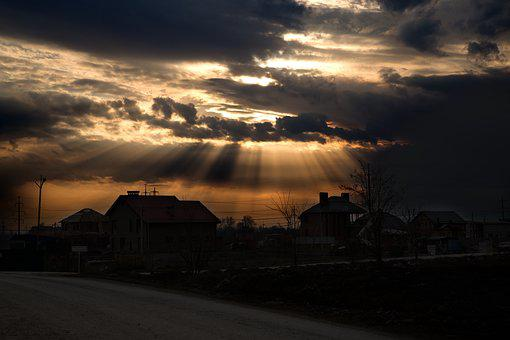 Sunset, Sun, Rays, Horizon, Sky, Evening, Summer, Dahl