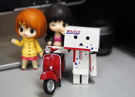 Toy, Character, Anime, Red, Motorcycle, Figurine