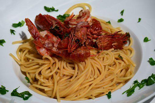 Spaghetti, Pasta, Noodles, Gambas, Red Gambas