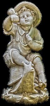 Figure, Sitting, Snail, Sculpture, Garden Figurines