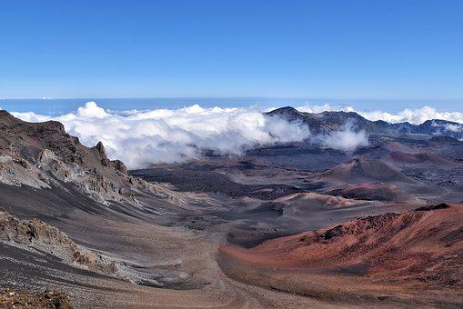 Hawaii, Crater, Volcano, Haleakala National Park, Maui