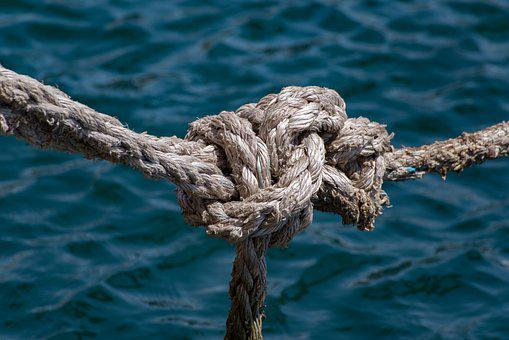 Rope, Mooring, Knot, Cord, Sea, Boat, Nautical, Marine