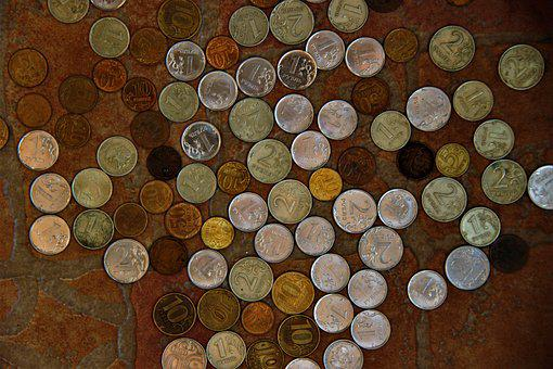 Coins, Kopek, Money, Ruble, Handful, Trifle