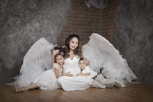 Angel, Pregnant, Expecting, Wing, Maternity, Childbirth