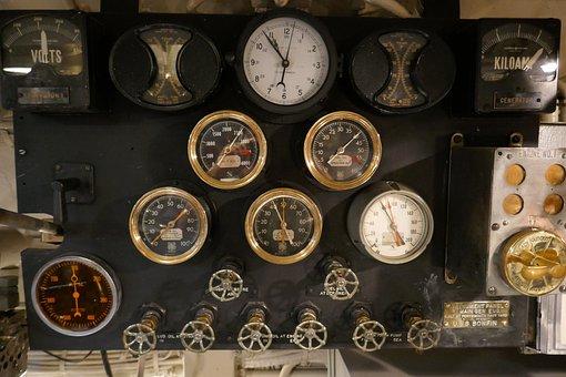 Gauge, Pressure, Submarine, Measurement, Equipment