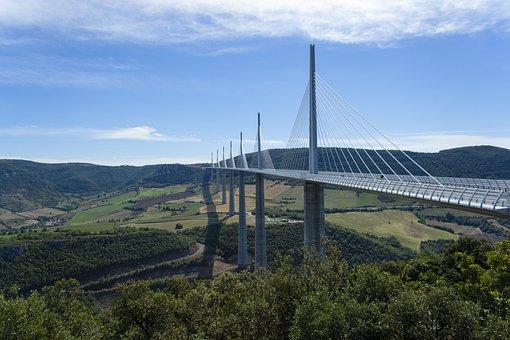 Millau Viaduct, France, Bridge, Skråstag, Millau