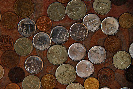 Coins, Kopek, Money, Ruble, Handful, Trifle