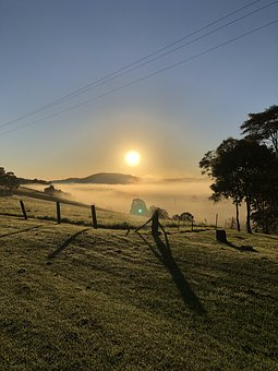 Sunrise, Morning, Landscape, Early, Nature, Outdoor