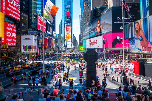 Nyc, New York, Times Square, Downtown Nyc
