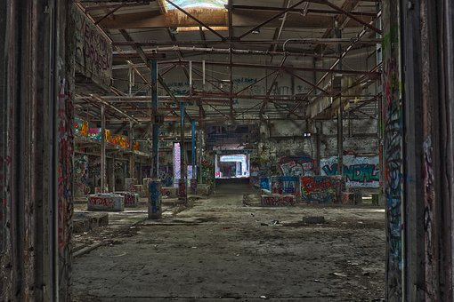 Lost Places, Factory, Old Factory, Pforphoto, Leave