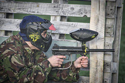 Paintball, Action, Army, Gun, Military, Paintballing