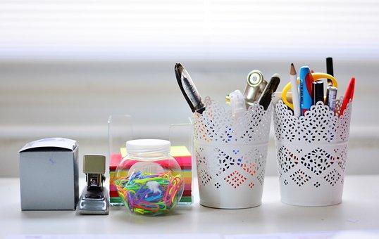 Desk, Writing Utensils, Desk Accessories, Pen Box