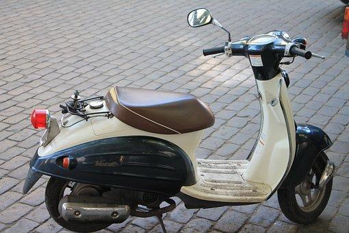 Moped, Road, Cobblestone, Transport, Ukraine, Odessa