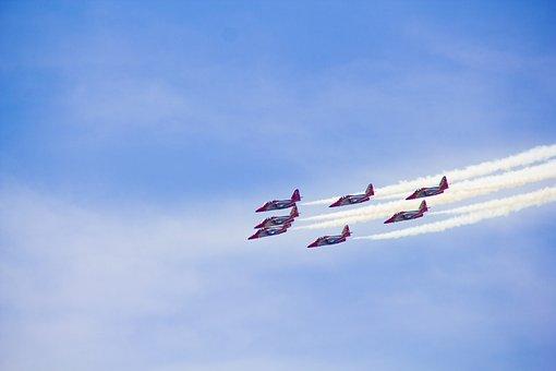 Aircraft, Aviation, Clouds, Blue, Sky, Landing