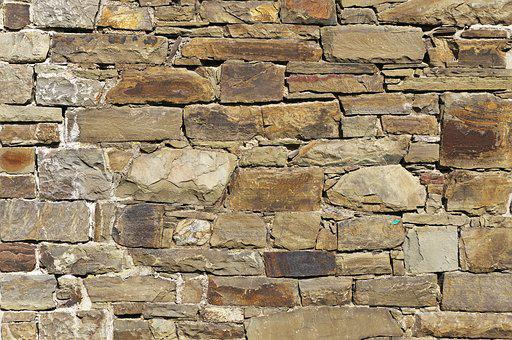 Stone Wall, Quarry Stone, Natural Stones, Joints, Split