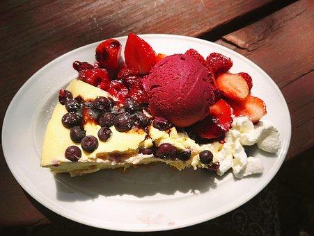 Cheesecake, Cake, Ice Cream, Sweet, Food, Dessert