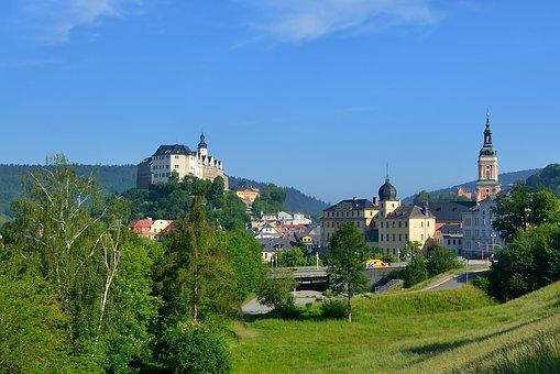 Castle Town, Greiz, Thuringia Germany