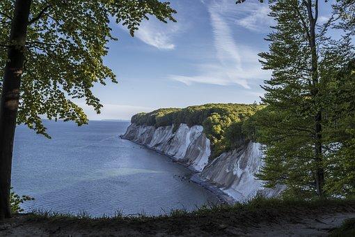 White Cliffs, Coast, Cliffs, Sea, Rügen, Beach