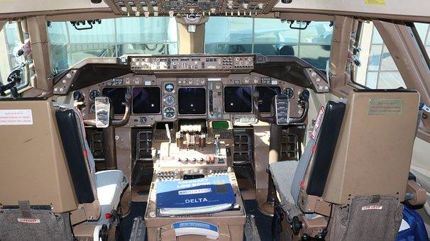 Delta Airlines, 747, Airport, Travel, Transportation