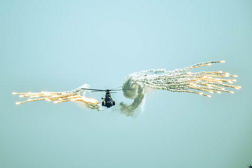 Helicopter, Blue Sky, War, Flight, Pilotage, Army