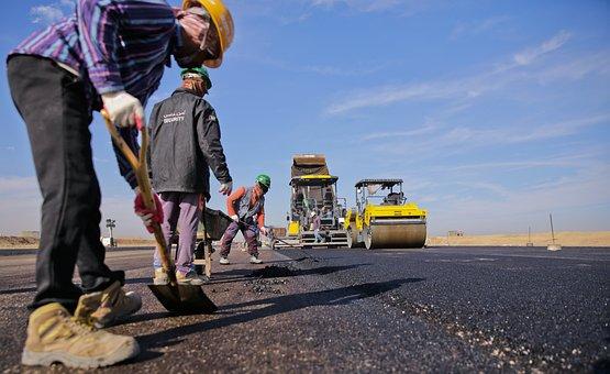Asphalt, Construction, Road, Work
