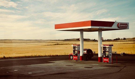 America, Usa, Petrol Stations, Washington State, Auto