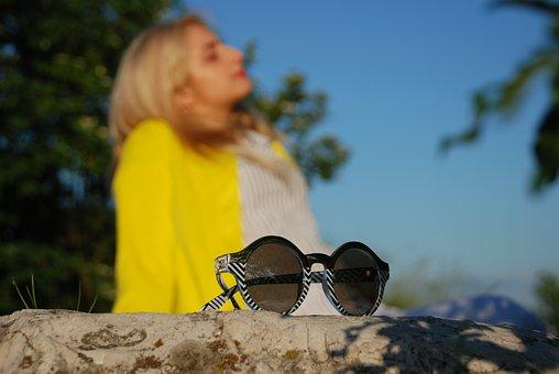 Glasses, Sun, Sunglasses, Background, Vacation, Summer