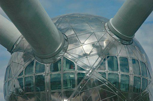 Belgium 2015, Brussels, Atomium Detail, World's Fair