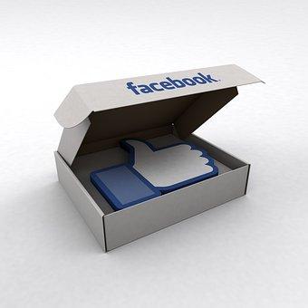 Facebook, Like, Box, Big, Social, Media, Hand, Success