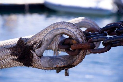 Rope, Mooring, Chain, Boat, Ship, Dock, Nautical