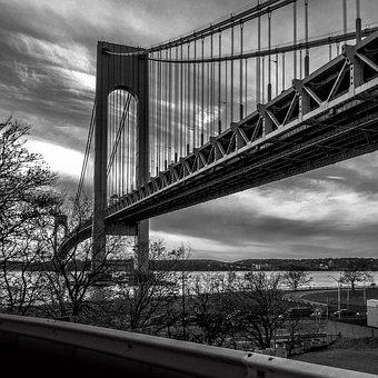 Bridge, New York, Nyc, New York City, Waterfront, Urban