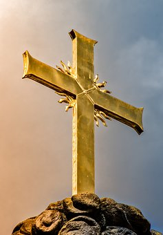 Architecture, Building, Dom, Fulda, Cross, Golden, Gold