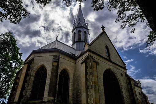 Church, Chapel, Cemetery, Czech Republic, Grazen