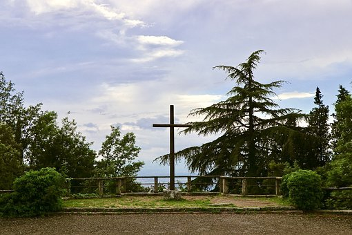 The Crucifix, St Francis, Convent, Clouds, Florence