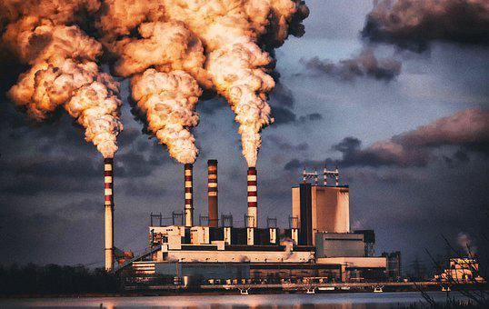 Power Station, Combined Heat And Power Plant, Chimneys