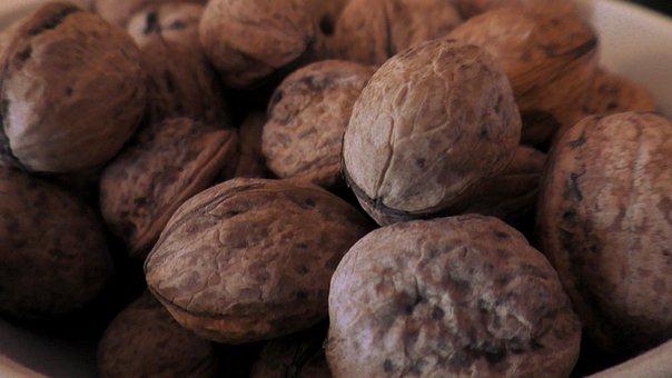 Walnuts, Nuts, Brown, Diet, Nutshell, Food