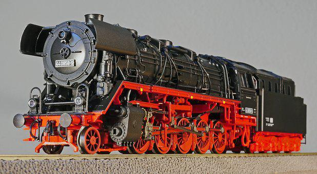 Steam Locomotive, Model, Scale H0, Br44, Br 44, Dr