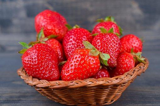 Strawberries, Season, Spring, Fruit, Eating, Healthy