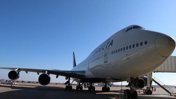 Delta, 74, Airport, Airplane, Plane, Aircraft, Jet