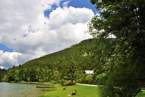 Lake, Mountain, Landscape, Water, Berger Lake, Italy